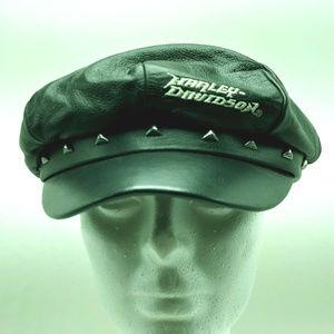 Harley Davidson biker hat cap studs newsboy cycles